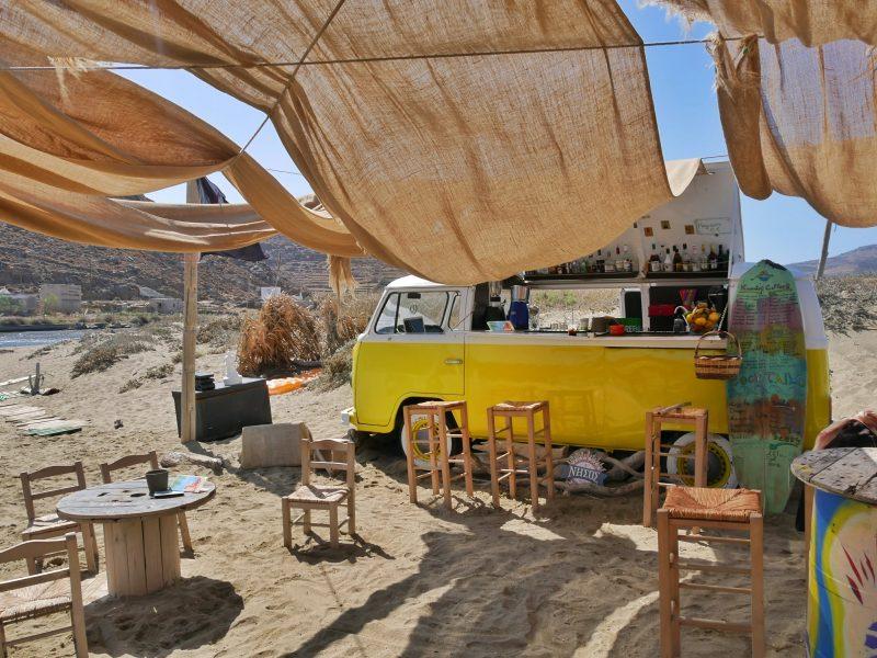Kolimpithra Beach - Surfstrand Tinos Griekenland