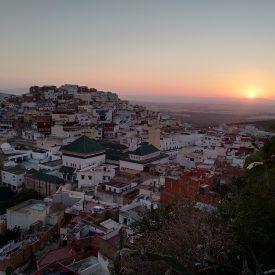 Zonsondergang in Moulay Idriss (Marokko)