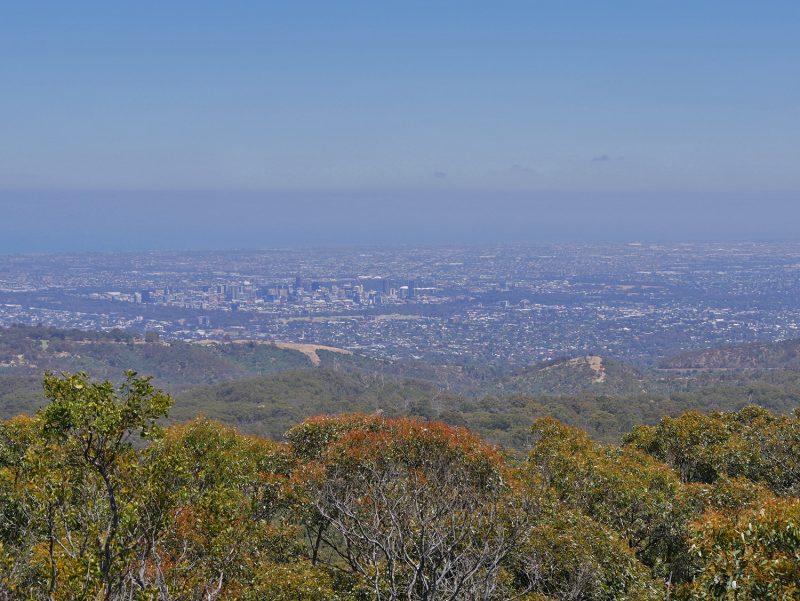 Mount Lofty in de buurt van Adelaide